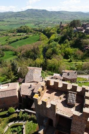 Uitzicht vanaf de toren van Castello di Proceno