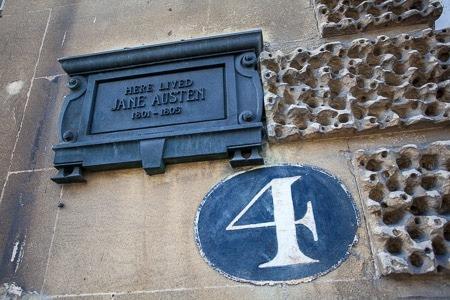 Het woonhuis van Jane Austen in Bath